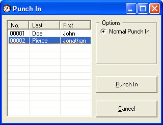 Punch In Screen